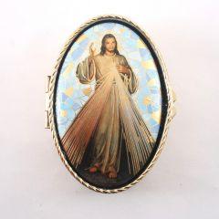 Irgalmas Jézus réz rózsafüzértartó
