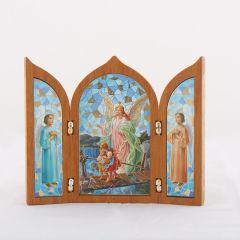 Aranyozott szárnyas oltár Őrangyal szentképpel