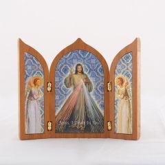 Aranyozott szárnyas oltár Irgalmas Jézus szentképpel