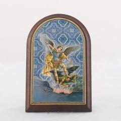 Támaszható boltíves plakett Szent Mihály főangyal szentképpel
