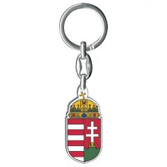 Faplakettes kulcstartó, magyar címeres