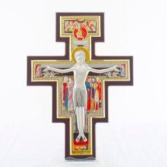 Akasztható ezüst plakett San Damiano