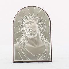 Állítható és akasztható ezüst plakett (Krisztus király)
