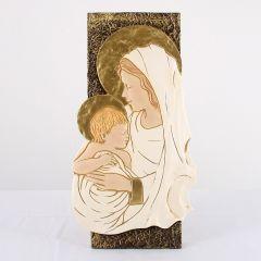 Szintetikus kő plakett, Mária kis Jézussal