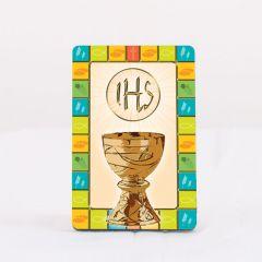 2D-s fa hűtőmágnes aranyozott szentképpel