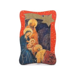 2D-s faplakett, aranyozott szentképpel