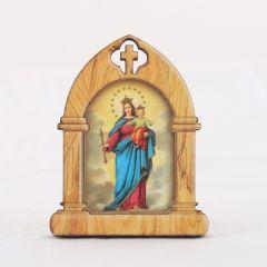 Támasztható, aranyozott szentképes faplakett