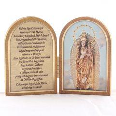 Nyitható, aranyozott szentképes faplakett