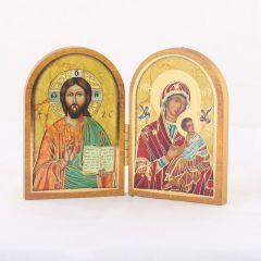 Nyitható faplakett Ikon Passió Madonna És Krisztus a mester szentképpel