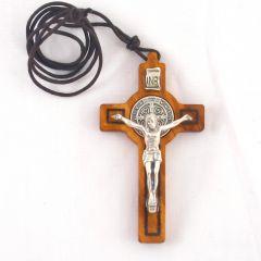 Nyaklánc Szent Benedek kereszttel (sima)