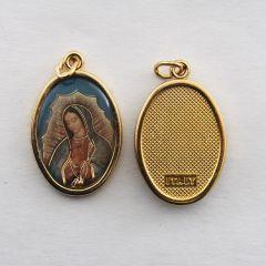 Aranyozott egyoldalas medál Guadalupe-i Szűzanya képpel