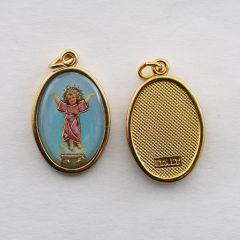 Aranyozott egyoldalas medál Kis Jézus képpel