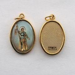Aranyozott egyoldalas medál Istenes Szent János képpel