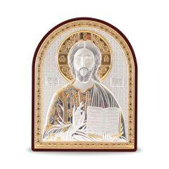 Faplakett ezüst betéttel - bicolor (Krisztus)