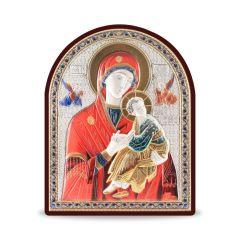 Faplakett ezüst betéttel - multicolor (Mária kis Jézussal)