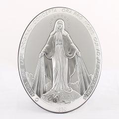 Állitható és akasztható ezüst plakett Csodás Szűanya