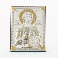 Állítható és akasztható ezüst plakett (Krisztus, a tanító)