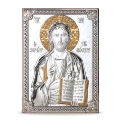 Icona - ezüst plakett (Krisztus a tanító)