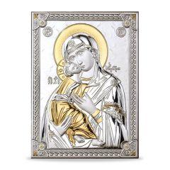 Icona - ezüst plakett (Mária kis Jézussal)