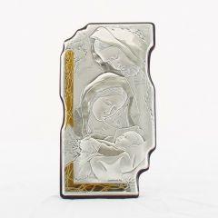 Állítható és akasztható ezüst plakett (Szent Család)