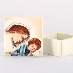 Ékszertartó doboz, Mária kis Jézussal