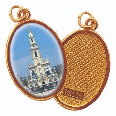 Aranyozott egyoldalas medál Fatimai templom képpel