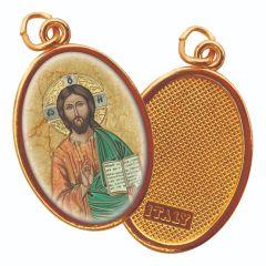 Aranyozott egyoldalas medál Krisztus, a tanító képpel
