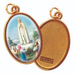 Aranyozott egyoldalas medál Fatimai Szűzanya képpel