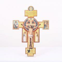 Kereszt formájú Szent Benedek fali faplakett