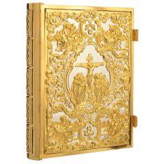 Fémveretes aranyozott réz olvasmányos könyvborító