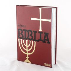 Képes piros Biblia
