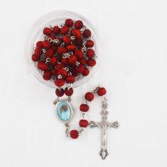 Rózsafüzér illatos fa szemekkel (Ferenc pápa)