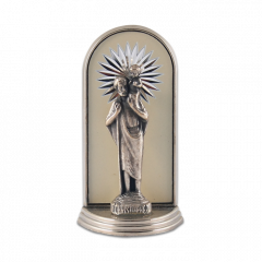 Mini oltár gravírozott betéttel (Szent Kristóf)