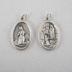 Ezüstözött érem, Lourdes-i Szűzanya és Szent Bernadett