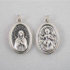 Ezüstözött érem, Maria Rosa Mystica és kis Jézus