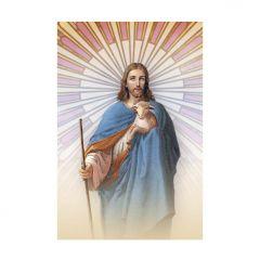Aranyozott mini szentkép, Jézus, a jó pásztor