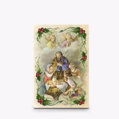Aranyozott mini szentkép, Karácsony