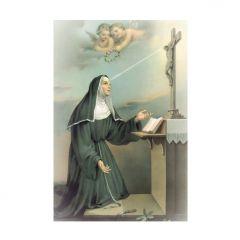 Aranyozott mini szentkép, Szent Rita