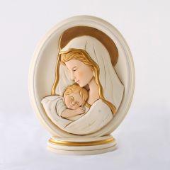 Ovális plakett, Mária kis Jézussal