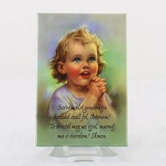 Hűtőmágnes imádkozó gyermek képpel