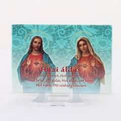 Hűtőmágnes Jézus és Mária szíve képpel (Házi áldás)