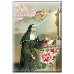 Hűtőmágnes Szent Rita képpel