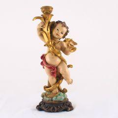 Angyalka műgyanta szobor (gyertyatartó)