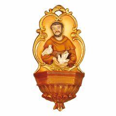 Műgyanta szenteltvíztartó, Szent Ferenc