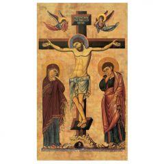 Aranyozott szentkép, keresztre feszítés