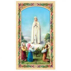 Fatimai Szűzanya aranyozott szentkép