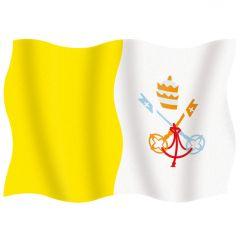 Vatikáni címeres zászló