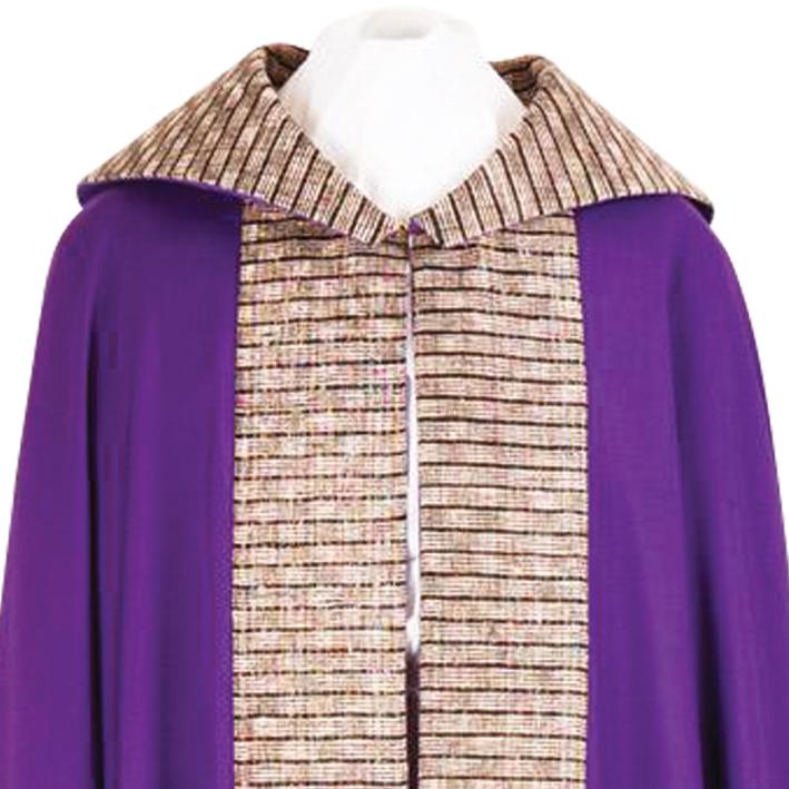 Liturgikus textíliák lila színben