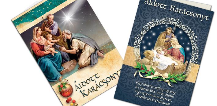 Karácsonyi képeslapok borítékos, exkluzív és hagyományos kivitelekben